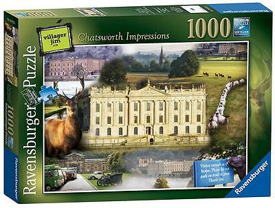Ravensburger 19572 High Quality Chatsworth House 1000 Pieces Jigsaw Puzzle Game