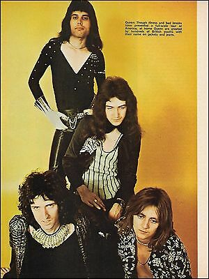 Queen Freddie Mercury Brian May Roger Taylor John Deacon circa 1979 pinup photo