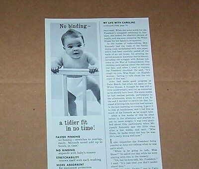 1966 vintage ad - Curity Diapers CUTE diaper baby Kendall magazine print ADVERT