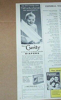 1960 vintage ad - Curity stretch Diapers CUTE diaper baby Kendall print ADVERT