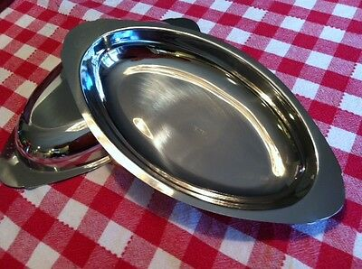 Casserole Dishes ~ 15 oz.~ Set of 2 ~ Oval - 18/8 Stainless Steel ~ Brand New