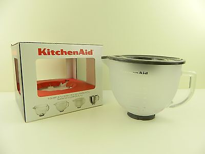 KitchenAid K5GBF 5-quart Frosted Glass Bowl w/ Lid for Tilt-Head Stand Mixer B23