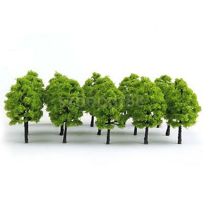 20x Light Green Model Trees Train Railway Park Diorama Scenery HO 1:100 3.54inch