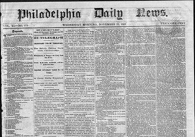 Abraham Lincoln For President 1863 Civil War Newspaper Five Men Hung Lynch Law