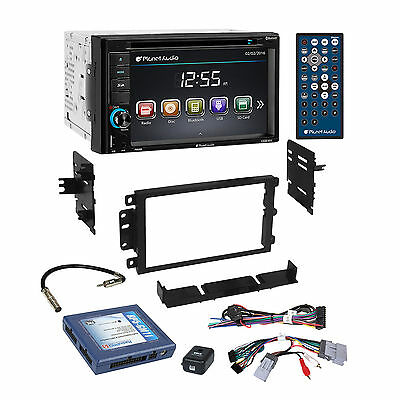Planet Audio Bluetooth Car Stereo Dash Kit Bose Onstar Harness for GM Chevrolet