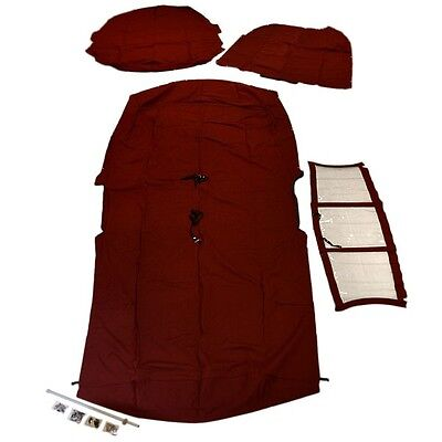 Chaparral Boat Curtain Cover Kit | 264 Sunesta Red 114530006