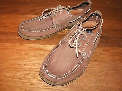 Mens (M&s)Brown Suede Loafer/deck Shoe Size 7 Ex Con.