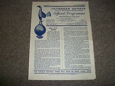 TOTTENHAM HOTSPUR   Spurs  v  SWANSEA TOWN    League  1949/50