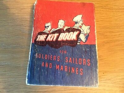 Rare WW2 US 1942  The Kit Book for Soldiers Sailors & Marines R M BARROWS
