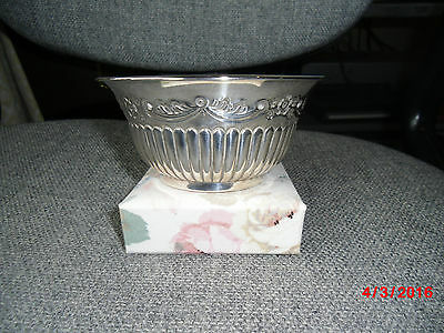 Art Nouveau Solid Silver Sugar Bowl - Grinsell & Sons 1898 - 129 gms