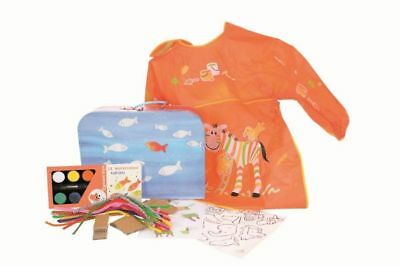 Craft Case Fish Cardboard Suitcase Water Color Pipe Cleaners
