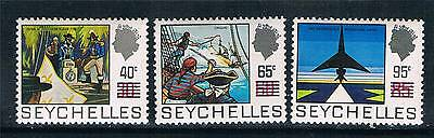 Seychelles 1971 Surcharge issue SG 303/5 MNH
