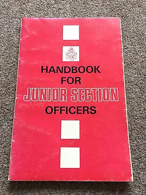 The Boys Brigade Handbook For Junior Section Officers. 1967.