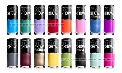 MAYBELLINE Nail Polish/Enamel COLOR SHOW Limited Edition NEW! *YOU CHOOSE* 1d