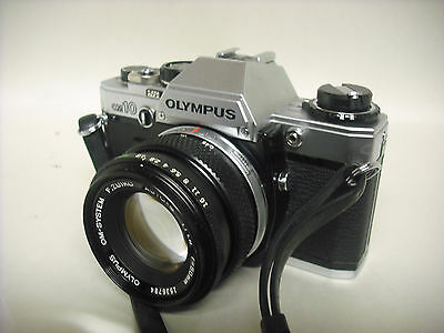 Used Vintage working OLYMPUS om10 35 MM camera With original lens Made in Japan