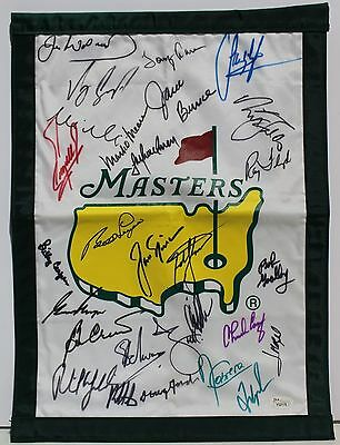 Masters Golf Flag Signed By 27 Champions Jsa Nicklaus, Player, Mickelson +