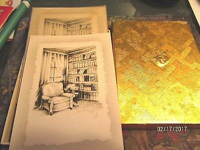 Vintage HALLMARK BOOK PLATES VERY RARE APPROX. 30 OLD LIBRARY CHAIR WINDOW BOOKS