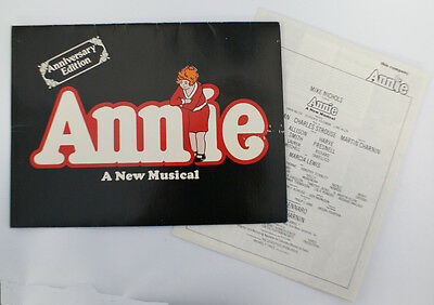 Vintage 1977 ANNIE Musical Souvenir Theater Program Booklet, Anniversary Edition