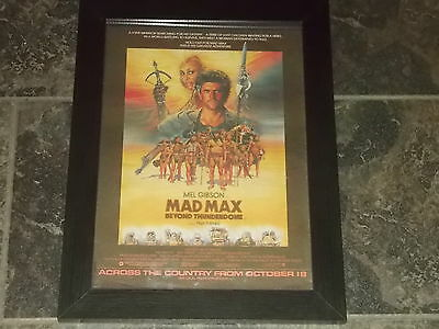 Mad max beyond the thunderdome-original poster sized advert framed