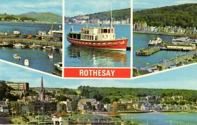 Rothesay Isle of Bute Multi view Pleasure boat harbour