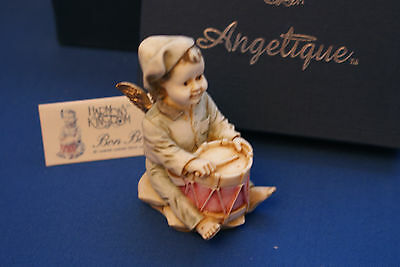 Bon Bon Boy  Angel Christmas Holiday Edition Harmony Kingdom Box Figurine Mib