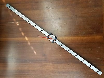 "22"" Linear Guide Rail with IKO LWL15 Bearing Block, Slide Assy"