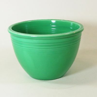 Vintage Fiesta Ware Homer Laughlin Original Green #4 Mixing Bowl Excellent!