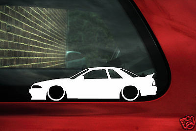 2x LOW Nissan Skyline R32 GTR / GT-R outline silhouette stickers, Decals
