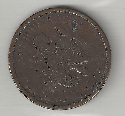 LOWER CANADA, ND (1838), SOUS TOKEN, COPPER, KM#Tn4 ( Details )