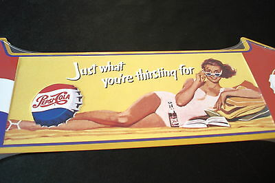 "Pepsi-Cola ""just What You're Thirsting For"" New Tin Arrow Sign, 27""x8"""