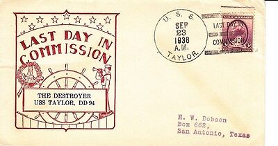 USS Taylor DD-94, last day commission, Sept. 23, 1938 (S0266)