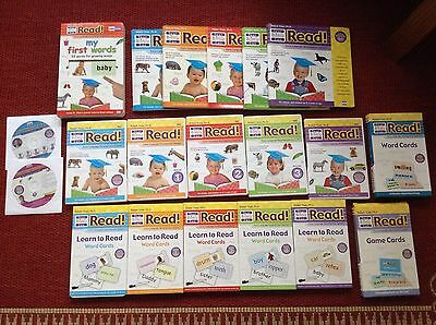 Your Baby Can Read Set Volume 1-3 Starter & Review Books DVDs Word & Game Cards