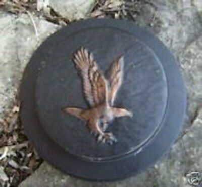 "Eagle stepping stone mold mould 9"" x 1.5"" thick"