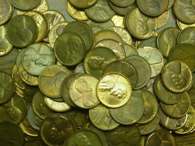 Mixed Lot of 166 AU/BU Lincoln Wheat Penny Cents 1940's 50s PDS Mostly 1944-1954