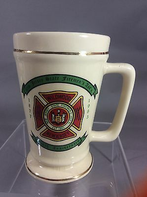 Collectible Firefighter Mug New Jersey state Fireman's Ass'n 106th Anniversary