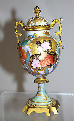 Antique Art nouveau Hand painted Sevres Urn with cover signed