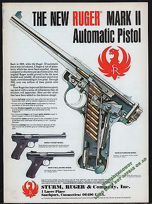 1983 RUGER Mark II Automatic Standard Model Pistol w/Target & Bull Barrel AD