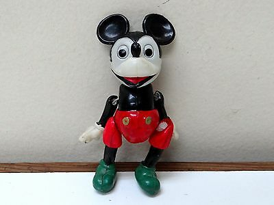 UNIQUE VINTAGE 1930 Disney MICKEY MOUSE JOINTED CELLULOID TOY FIGURE