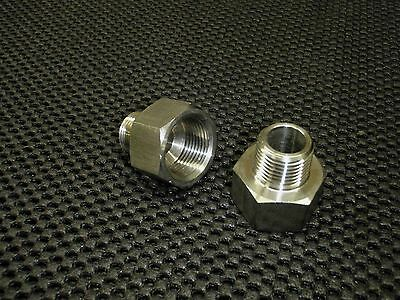 """STAINLESS STEEL ADAPTER REDUCER 1/2"""" FEMALE x 3/8"""" MALE NPT PIPE AR-050F-037M"""
