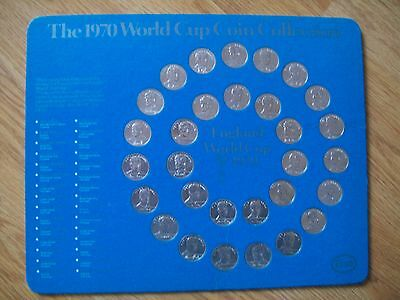 20Esso Mexico 1970 World Cup Coin Collection ,england Squad,complete