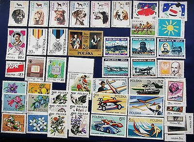 POLAND - 1980-1990 Collection of MNH Sets