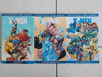Lot 100% Marvel: X-MEN Tomes 1, 2 & 3 (Panini Comics) VF