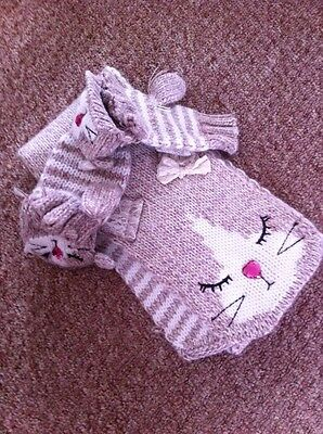Girls Scarf And Gloves Set