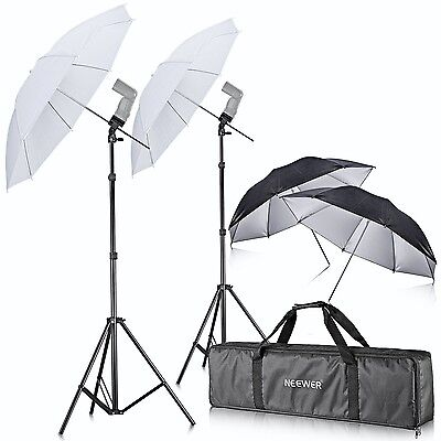 Neewer Off Camera Double Speedlight Flash Shoe Mount Swivel Soft Umbrella Kit...