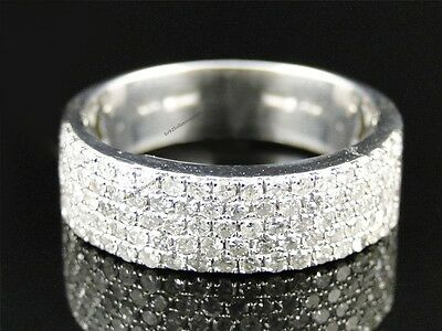 10K White Gold 2.50 Carat Mens Round Diamond Engagement Wedding Pinky Ring Band
