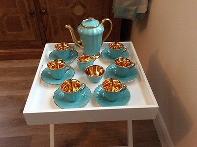 Wade Gold Turquoise Coffee Set