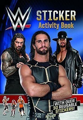 WWE Sticker Activity Book Colouring Reusable Stickers Roman Reigns John Cena