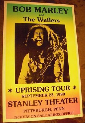 Bob Marley 1980 Tour Last Concert Poster 80S Pittsburgh Pa The Wailers Reggae