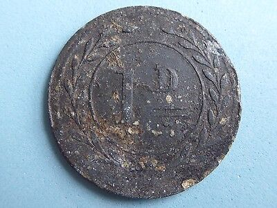 Unknown Token, Medalet, Check 1D Tin 32Mm  (402