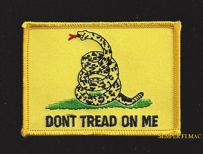 Gadsden Don't Tread On Me Flag Hat Patch Us Army Marines Navy Air Force Veteran